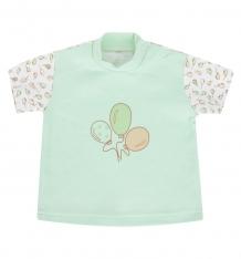 Купить футболка папитто воздушные шарики, цвет: салатовый и470-37 62 сал/сал