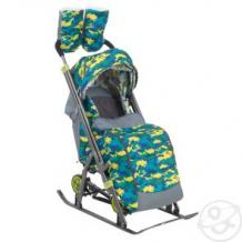Купить санки-коляска galaxy, цвет: камуфляж ( id 11517844 )