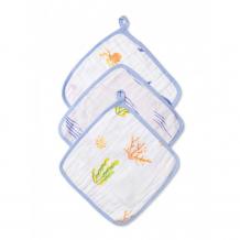 Купить qwhimsy полотенце для лица и рук океан 28х28 см 3 шт. qwc003