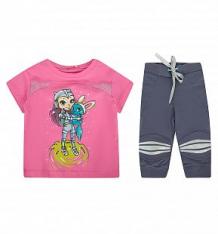 Купить спортивный комплект футболка/брюки, цвет: розовый pelican ( id 2682344 )