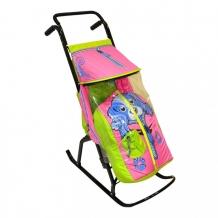 Купить санки-коляска r-toys снегурочка 2-р собачка