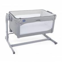 Купить кроватка детская chicco next2me magic cool grey, серый chicco 997049543
