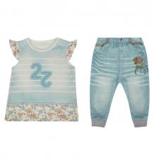 Купить комплект футболка/брюки папитто fashion jeans, цвет: фиолетовый ( id 6069511 )