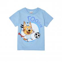 Купить футболка frutto rosso три кота, цвет: голубой ( id 11319494 )