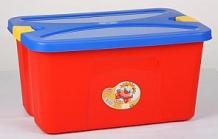 Купить ящик для игрушек м-пластика секрет, цвет: малиновый ( id 102453 )