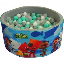 """Купить сухой бассейн hotenok """"мимимишки"""", серый, 40 см, 200 шариков ( id 12191163 )"""