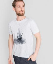 Купить футболка с принтом «яхта»