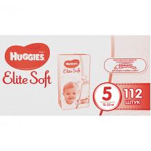 Подгузники Huggies Elite Soft 5, 12-22 кг, 112 шт. ( ID 4861836 )