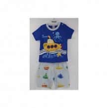 Купить комплект футболка/шорты bidirik, цвет: синий 764