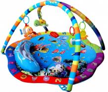 Купить развивающий коврик leader kids с подвесными игрушками подводный мир lk80701