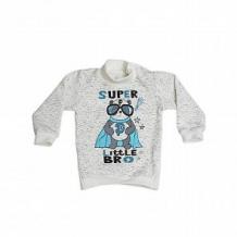 Купить джемпер babyglory супергерои, цвет: белый/серый ( id 11457556 )