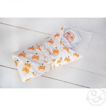 Купить комплект на выписку лисички slingme, цвет: белый комбинезон/одеяло/шапка/снуд/бант 90 х 90 см ( id 12797614 )