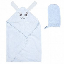 Купить комплект leader kids полотенце/рукавица 75 х 100 см, цвет: голубой ( id 12037726 )