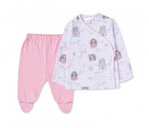 Купить linas baby комплект для девочки (ползунки и распашонка) 834-11r