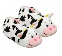 Купить тапочки вывернушки 1toy корова-свинья, цвет: белый/розовый ( id 10124055 )