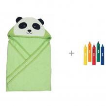 Купить forest полотенце с капюшоном панда 100х100 см и игрушка для ванны munchkin карандаши