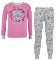 Купить пижама джемпер/брюки bembi, цвет: розовый ( id 6014107 )
