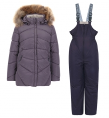 Купить комплект куртка/полукомбинезон kvartet, цвет: серый/фиолетовый 440-д