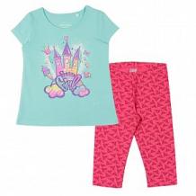 Купить комплект футболка/бриджи cherubino, цвет: бирюзовый ( id 12580600 )
