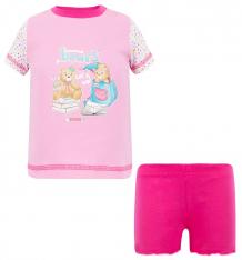 Купить комплект футболка/шорты tiger baby & kids, цвет: розовый tgr 11y-0007d
