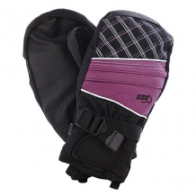 Купить варежки сноубордические женские pow ws astra mitt lavender черный,фиолетовый 1071320