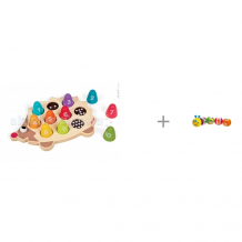 Купить сортер janod с цифрами ежик и развивающая игрушка maman гусеница