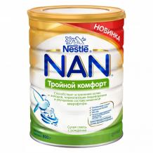 Купить nan тройной комфорт сухая молочная смесь для детей с рождения 800 г 12365276