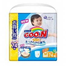 Купить goon подгузники-трусики м ( 6-12 кг) 74 шт. 853066/853506