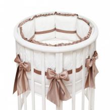 Купить комплект в кроватку colibri&lilly chocolate round (7 предметов)