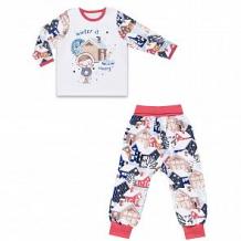 Купить комплект джемпер/брюки апрель зимушка-зима, цвет: белый/синий ( id 11810932 )