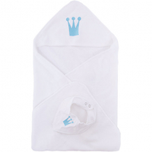 Купить комплект: нагрудник и полотенце 75х81 wallaboo, голубой 5445078