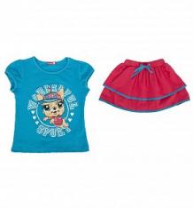 Купить комплект футболка/юбка pelican, цвет: синий ( id 2685239 )