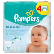Купить влажные салфетки pampers fresh clean, сменный блок, 4х64 шт. pampers 997042681