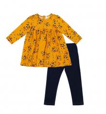 Купить комплект платье/леггинсы play today золотой сад, цвет: оранжевый/синий 388032
