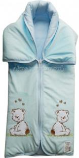 Купить папитто конверт-одеяло на молнии с вышивкой 82x92 11-150