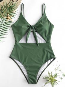 Купить zaful knot cut out swimsuit 439199301