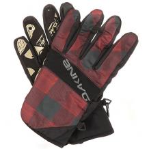 Купить перчатки сноубордические dakine crossfire glove red check черный,бордовый ( id 1196350 )