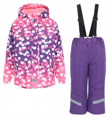 Купить комплект куртка/полукомбинезон fobs, цвет: фуксия ( id 9839493 )