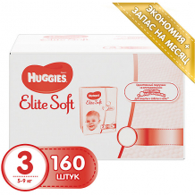 Подгузники Huggies Elite Soft 3, 5-9 кг, 160 шт. ( ID 4861834 )