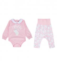 Купить комплект боди/ползунки umka мишки, цвет: розовый ( id 9533166 )