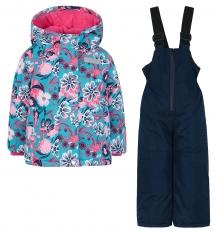 Купить комплект куртка/полукомбинезон salve by gusti, цвет: голубой/розовый ( id 9819900 )