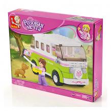"""Купить конструктор sluban """"розовая мечта: микроавтобус"""", 158 деталей ( id 11025561 )"""