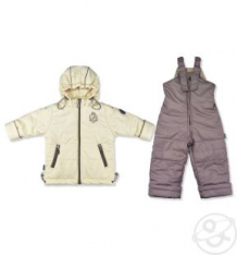 Купить комплект куртка/полукомбинезон leo, цвет: бежевый/коричневый ( id 10274372 )