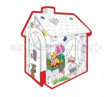 Купить mochtoys картонный домик-раскраска 10721