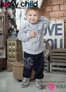 Комплект кофта/брюки Lucky Child, цвет: серый ( ID 436769 )