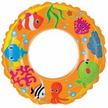 Купить надувной круг intex рифы океана, желтый, 61 см ( id 5604127 )