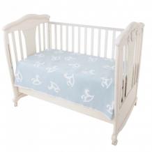 Купить одеяло ермолино байковое премиум льдистый лошадки 140x100 см 57-8ет ж/премиум