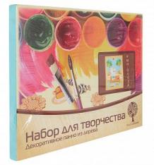 Купить сборная деревянная модель wooden toys декоративное панно из дерева с красками котенок на рыбалке ( id 2959142 )