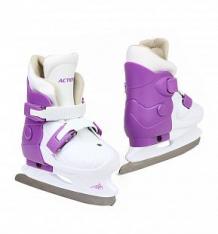 Купить коньки фигурные action sport pw-219 размер:33-36, цвет: белый/фиолетовый ( id 7356835 )