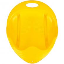 Купить санки-ледянка снежный гонщик, желтые ( id 13047428 )